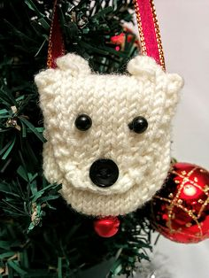 This quick little knit makes a sweet tree ornament, or it can be worn as a necklace. Hide a surprise or a treasure inside to make it extra special!
