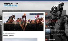 Horses Racing Blogger Template - Blogger Themes #blogger #horses #racing #bloggerthemes