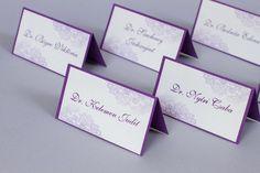 Lila csipkés, esküvői ültetőkártya - purple wedding place cards Wedding Places, Wedding Place Cards, Purple Wedding, Typography, Place Card Holders, Weddings, Wedding Reception Venues, Letterpress, Wedding Venues