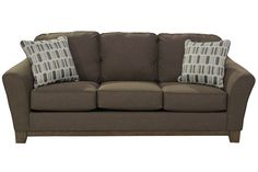 Mor Furniture For Less: The Janley Chocolate Sofa | Mor Furniture For Less
