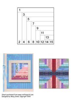 Quilt Square 025 Iris Folding Pattern