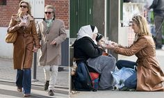 Rod Stewart stops to feed starving migrants in the street in Paris