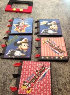 Paper Bag Scrapbook and Mickey picture frame