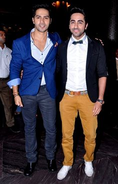 Varun Dhawan and Ayushmann Khurrana http://www.vogue.in/content/best-dressed-bollywood-special#12