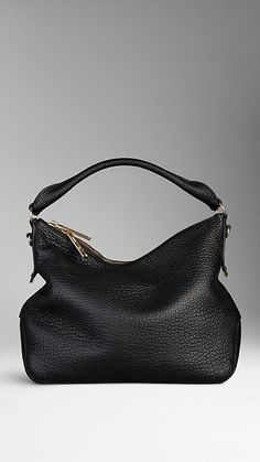 Small Heritage Grain Leather Hobo Bag | Burberry $1,295