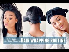 Nighttime Hair Wrapping Routine [Video] - Black Hair Information