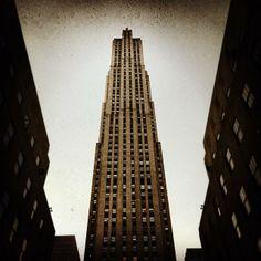 Rockefeller Center reaches for the stars.    Photo courtesy of jnasa on Instagram.