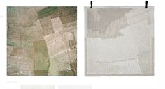 'Consider the Landscape a Territory' l Rugs l Roosmavijn Pallandt l The way Pallandt visually captures a natural landscape from Google Earth technology and translates these textures is an approach I am interested in taking. Similarly I want to take textures and patterns sourced from nature and translate them into textural fabrications so that nature is directly adorned on the body and a sense of connection is experienced by the wearer in her modern life.