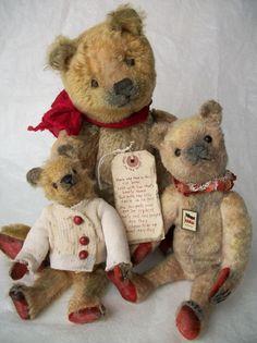 Parents, save this list! This is the holy grail for the best toy gift ideas and… Old Teddy Bears, Antique Teddy Bears, My Teddy Bear, Antique Toys, Vintage Toys, Cute Bear, Christmas Teddy Bear, Charlie Bears, Bear Doll