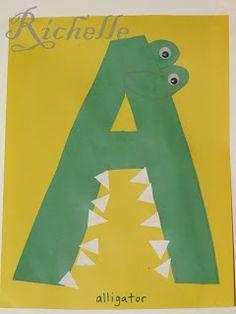 Letter A Alligator