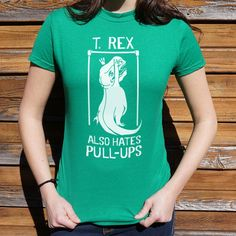 Rex is strictly a cardio bro! Funny Shirt T-Rex Short Arms Dinosaur Professionally printed silkscreen. Ships within 2 business days. Designed and printed in the USA. Dinosaur Funny, Dinosaur Shirt, Versace T Shirt, T Shirt And Shorts, Happy Women, Design Quotes, T Rex, Shirts For Girls, Funny Tshirts