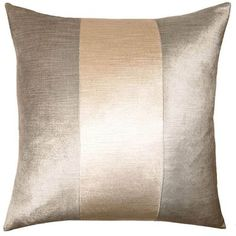 Square Feathers Band Mayfair Pillow Size: x