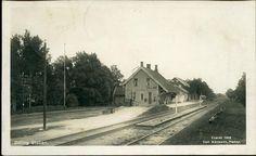 Dilling stasjon Rygge kommune Østfoldbanen østre linje stp Kambo 1945 Foto: Normann 1922