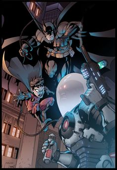 Batman and Robin VS Mr.Freeze by Furlani on DeviantArt