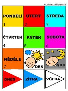 Tyden Preschool Themes, Foreign Languages, Montessori, Worksheets, Crafts For Kids, Classroom, Teaching, Education, Children
