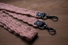 pretty crochet camera strap