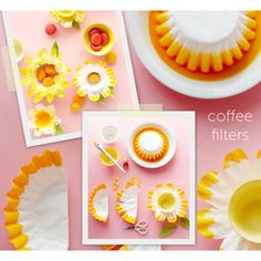 Coffee Filter Flowers and other fun paper flowers.great way to recycle, upcycle or just use uncommon but money saving papers to create beautiful flowers Handmade Flowers, Diy Flowers, Paper Flowers, Flower Ideas, Spring Flowers, Flower Diy, Easter Crafts, Crafts For Kids, Diy Crafts