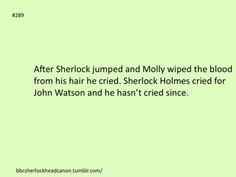 This could be so true. The whole FANDOM was crying so much for John, Sherlock must've. Sherlock Holmes Bbc, Sherlock Fandom, Watson Sherlock, Sherlock John, Sherlock Quotes, Angel Of Death, Elementary My Dear Watson, Mrs Hudson, Sherlolly