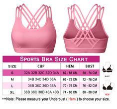 968603573d2ff YIANNA Womens Sports Bra Padded Medium Support Cross Back Strappy Wirefree  Running Yoga Bra TopsYABRA145PinkS    Click on the image for additional  details.
