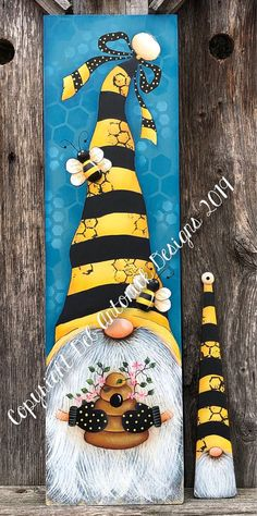 Bee Happy by Deb Antonick email pattern packet Country Paintings, Happy Paintings, Mini Paintings, Tole Painting Patterns, Paint Patterns, Wood Patterns, Henna Patterns, Tole Decorative Paintings, Pattern Painting