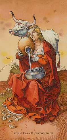 Temperance: Tarot of Dürer by Gaudenzi Divination Cards, Tarot Cards, 7 Chakras, True Tarot, Temperance Tarot, Tarot Prediction, Online Tarot, Tarot Major Arcana, Tarot Learning