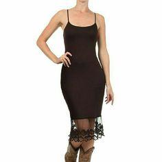 Brown Lace Maxi Dress