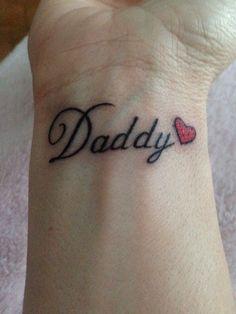 Dad Name Tattoo : tattoo, Daddy, Tattoos, Ideas, Tattoos,