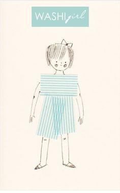 washi tape girl - adorable