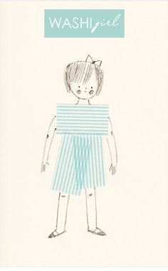 washi tape girl - adorable