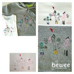 A família do Artur na camisola do pai e na T-shirt do filho :) Sa famille dans la sweat de papa et sa t-shirt :) His family in dad's sweatshirt and son's T-shirt :) #bewee #embroidery #bordadospersonalizados #familylove