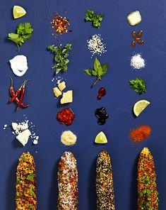 Elote Corn 4 Ways - Salad Slow Cooker Creamed Corn, Creamed Corn Recipes, Corn Salad Recipes, Corn Salads, Mexican Grilled Corn, Mexican Corn Salad, Corn Dip, Old Bay Seasoning, Ears Of Corn