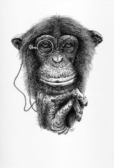 Realistic monkey tattoo by noire ink tattoo parlour for Year of the monkey tattoo