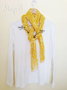 How to tie a pretty scarf knot in 3 simple steps. :-)