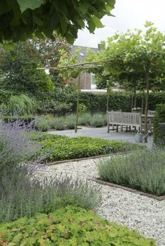 modern take on traditional potager garden style. I like the single-plant beds