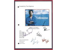 Californication Pilot Episode TV Script Autographed: David Duchovny, Natascha McElhone, Madeleine Martin, Evan Handler, Madeline Zima