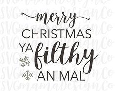 Merry Christmas Ya Filthy Animal SVG Vector Image Home Alone Christmas