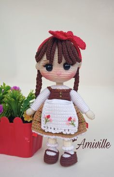 Crochet Dolls Free Patterns, Crochet Doll Pattern, Crochet Toys, Crochet Doll Tutorial, Crochet Fairy, Hood Pattern, Fairy Dolls, Red Riding Hood, Amigurumi Doll