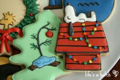 Snoopy Christmas cookies by Life's a Batch - this is all i can see of these three but i love them. They'd be perfect for the basket