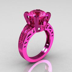 Modern Vintage 14K Pink Gold 30 CT Pink Sapphire by DesignMasters, $3199.00