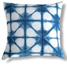 Shibori Constellation 26x26 Pillow, Blue