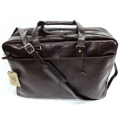 Quindici Leather Soft Holdall Brown *SPECIAL PURCHASE*