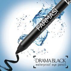 Göz makyajım bütün gün kalıcılığını korusun diyenler Farmasi Drama Black Göz Kalemi tam size göre! @farmasiofficial @farmasicosmetics #waterproofmakeup #makeup #beauty #farmasi #farmasimakeup  #eyepencil #cosmetics #