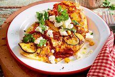 Bauernfrühstück mit Zucchini und Feta