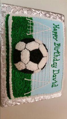 Soccer cake ... all buttercream
