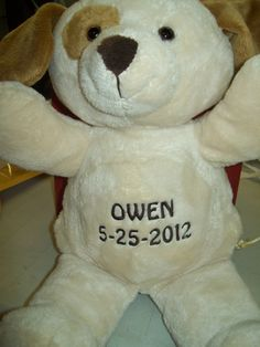 Personalized dominoes have any image or wording added to these personalized baby gift plush puppy with free embroidery 3389 with free shipping negle Images