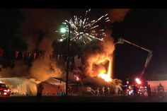 A fire broke out at Windy City Fireworks at around 9:30 Wednesday night in Rochester. Several departments from the area responded to the scene. July 17, 2013 #RuledArson #JudiLykowski #MMJ #Michiana #MultiMediaJournalist
