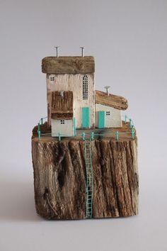 Driftwood cottages sculpture home decor | Home, Furniture & DIY, Home Decor, Decorative Ornaments & Figures | eBay!