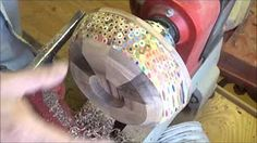 Woodturning Cd cases into a colour changing box !! - YouTube