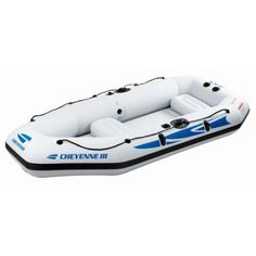 Z-Ray SW10340G Cheyenne III 400 Inflatable Boat Value Bundle, White