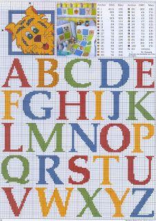 Darling Make Alphabet Friendship Bracelets Ideas. Wonderful Make Alphabet Friendship Bracelets Ideas. Embroidery Alphabet, Learn Embroidery, Cross Stitch Embroidery, Embroidery Patterns, Stitch Patterns, Crochet Letters, Plastic Canvas Letters, Knitted Washcloths, Stitch Cartoon
